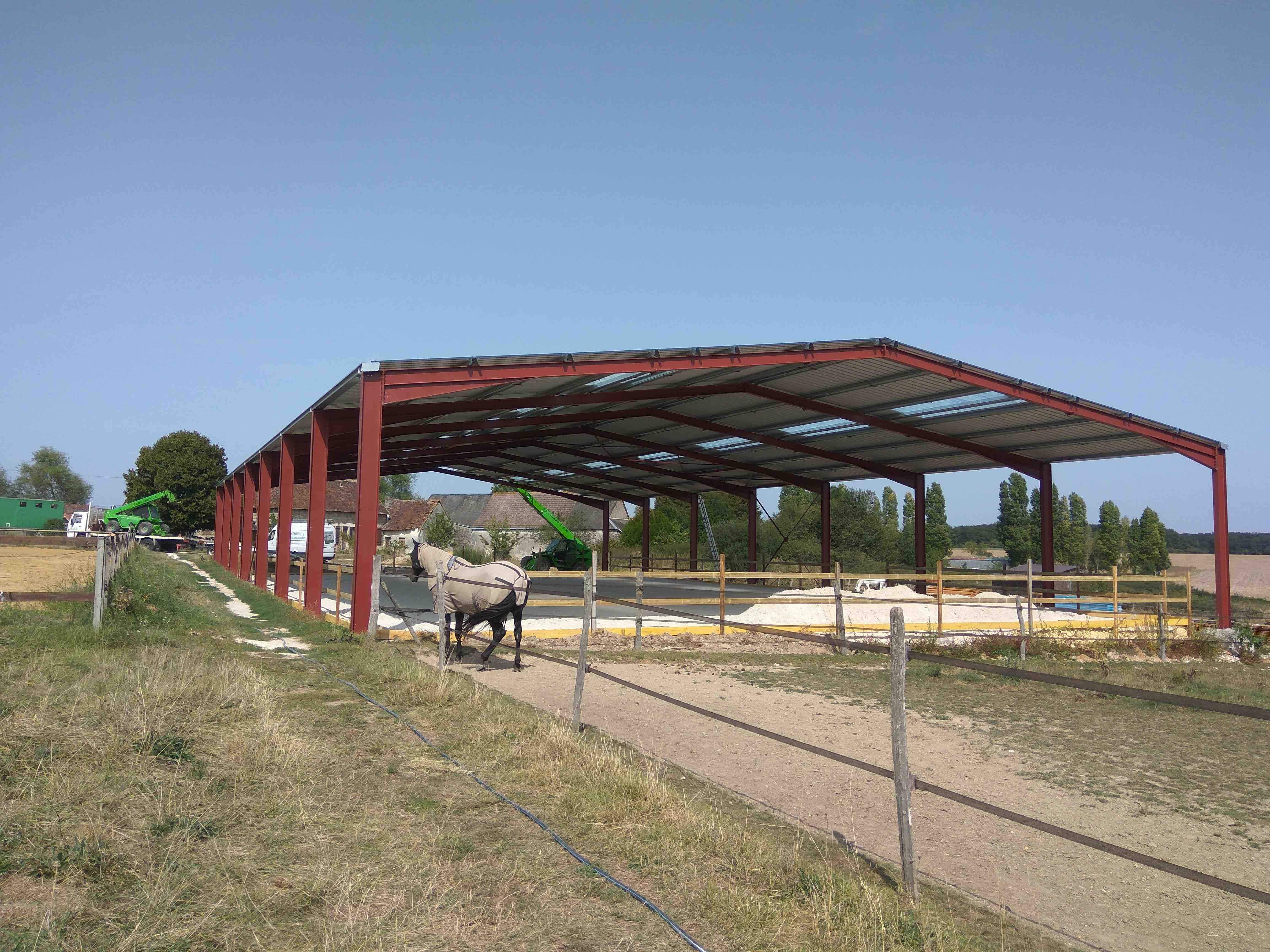 Hangar En Kit Bois bernard ccm - charpentes & constructions métalliques à
